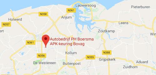 Automobielbedrijf Boersma - Route
